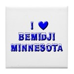 I Love Bemidji Winter Tile Coaster