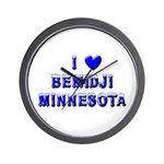 I Love Bemidji Winter Wall Clock