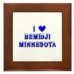 I Love Bemidji Winter Framed Tile