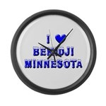 I Love Bemidji Winter Large Wall Clock