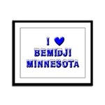 I Love Bemidji Winter Framed Panel Print
