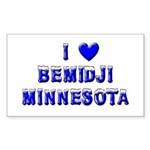 I Love Bemidji Winter Rectangle Sticker