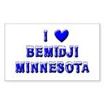 I Love Bemidji Winter Rectangle Sticker 50 pk)