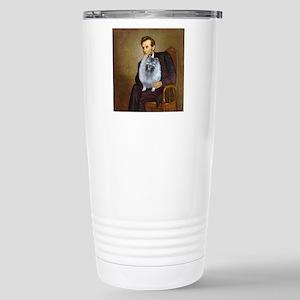 Lincoln / Keeshond (F) Stainless Steel Travel Mug
