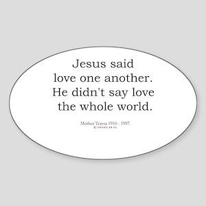 Mother Teresa 6 Oval Sticker