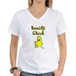 Bemidji Chick Women's V-Neck T-Shirt