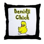 Bemidji Chick Throw Pillow