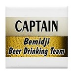 Bemidji Beer Drinking Team Tile Coaster