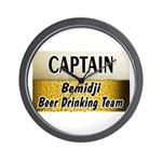 Bemidji Beer Drinking Team Wall Clock