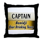 Bemidji Beer Drinking Team Throw Pillow