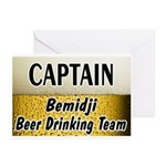 Bemidji Beer Drinking Team Greeting Cards (Pk of 1