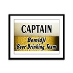 Bemidji Beer Drinking Team Framed Panel Print