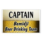 Bemidji Beer Drinking Team Rectangle Sticker