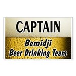 Bemidji Beer Drinking Team Rectangle Sticker 50 p