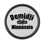 Bemidji Established 1896 Large Wall Clock