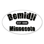 Bemidji Established 1896 Oval Sticker (10 pk)