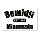 Bemidji Established 1896 Rectangle Sticker 50 pk)