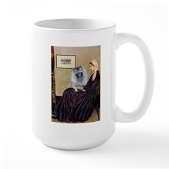 Mom's Keeshond (F) Large Mug