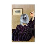 Mom's Keeshond (F) Sticker (Rectangle 10 pk)
