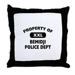 Property of Bemidji Police Dept Throw Pillow