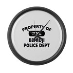 Property of Bemidji Police Dept Large Wall Clock