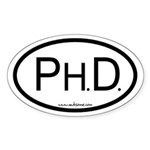 """Ph.D."" Sticker (Oval)"