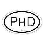 """Ph.D."" Sticker (Oval)"