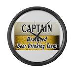 Brainerd Beer Drinking Team Large Wall Clock