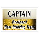 Brainerd Beer Drinking Team Large Poster