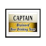 Brainerd Beer Drinking Team Framed Panel Print