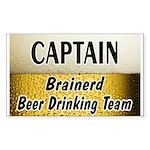 Brainerd Beer Drinking Team Rectangle Sticker