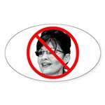 Anti Sarah Palin Oval Sticker (10 pk)