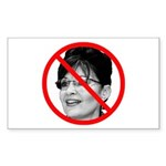 Anti Sarah Palin Rectangle Sticker