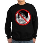 Anti Sarah Palin (Front) Sweatshirt (dark)