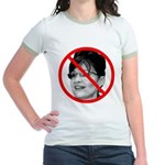 Anti Sarah Palin (Front) Jr. Ringer T-Shirt