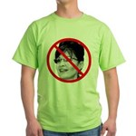Anti Sarah Palin (Front) Green T-Shirt