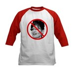 Anti Sarah Palin (Front) Kids Baseball Jersey