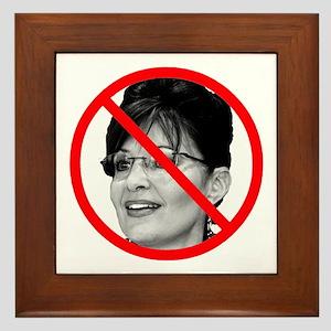 Anti Sarah Palin Framed Tile