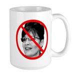 Anti Sarah Palin Large Mug