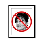 Anti Sarah Palin Framed Panel Print