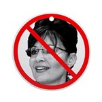 Anti Sarah Palin Ornament (Round)