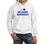 I Love Brainerd Winter Hooded Sweatshirt
