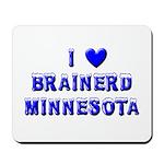 I Love Brainerd Winter Mousepad
