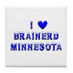 I Love Brainerd Winter Tile Coaster