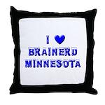 I Love Brainerd Winter Throw Pillow