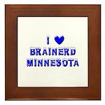 I Love Brainerd Winter Framed Tile