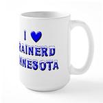 I Love Brainerd Winter Large Mug