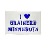 I Love Brainerd Winter Rectangle Magnet