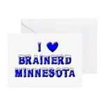 I Love Brainerd Winter Greeting Cards (Pk of 10)