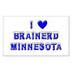 I Love Brainerd Winter Rectangle Sticker 10 pk)